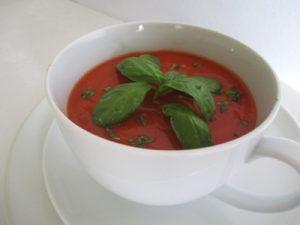 Paradicsom leves - tálalva