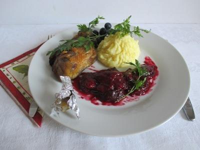 Szilva chutney - Kacsával és krumplipürével