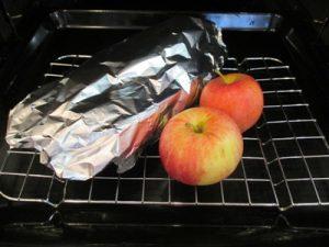 Sült sütőtök almával - sütőben