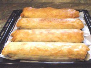 Sütőtökös mákos rétes - sütve