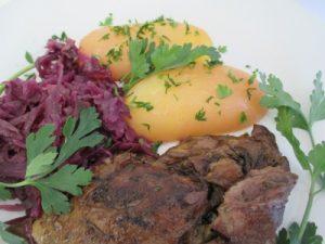 Sült libacomb - párolt káposztával petrezselymes krumplival
