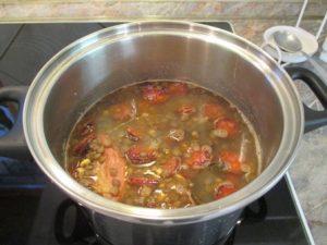Lencse leves készre főzve