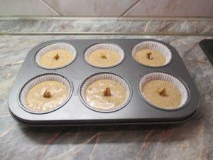 Mézes-diós muffin - formában