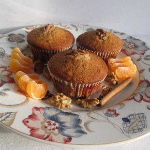 Mézes-diós muffin
