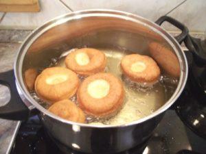 Fánk sütés fedő nélkül