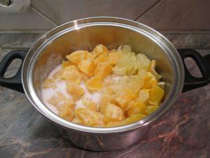 Narancslekvár hozzávalók cukorral