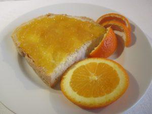 Narancslekvár vajas kenyéren