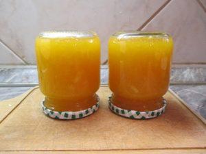 Narancslekvár üvegben
