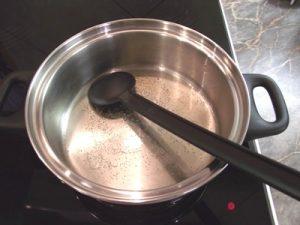 Zöldborsó főzelék - zsír olvasztása