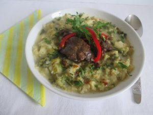 Kelkáposzta főzelék pirított májjal 1