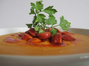 Sárgaborsó főzelék virslivel