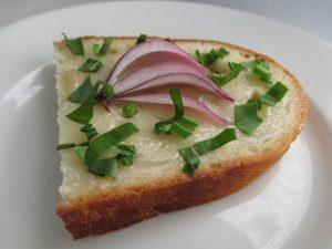 Kacsazsíros-lila-hagymás szendvics