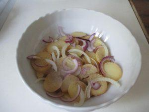 Főtt krumpli lerakása 1