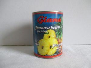Ananász befőtt konzerv