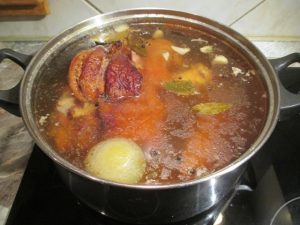 Füstölt csülök főzése 3