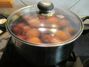 Krumpli és tojás főzése