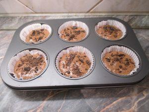 Muffin tészta formában