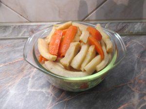 Zöldségek kiszedve