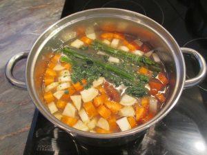 Zöldségek hozzáadva