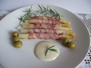 Spárga baconben - tálalás 2