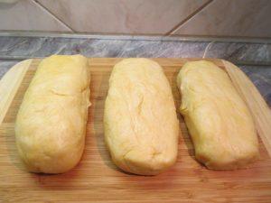 Bejgli tészta három darabban