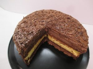 Csokoládékrém tortában