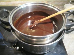Felolvasztott vaj és csokoládé