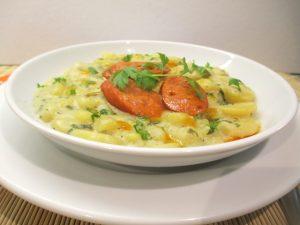 Krumpli főzelék tálalva 2