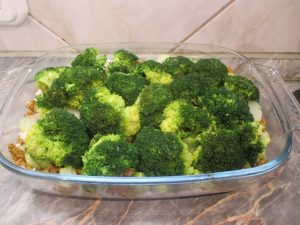 Étel lerakása brokkoli rózsák 4
