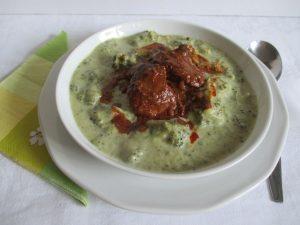 Brokkoli főzelék tálalva 1