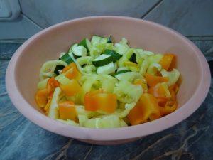 Zöldpaprika és cukkini