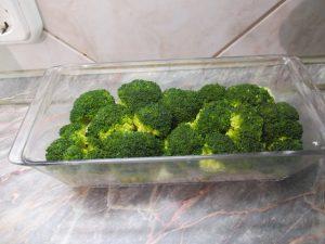 Középső réteg: brokkoli