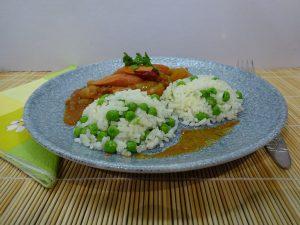 Zöldborsós rizs