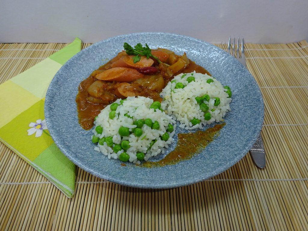 Zöldborsós rizs tálalva 1