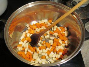 Zöldségek pirítása