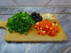Zöldségek és olíva