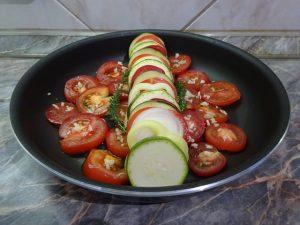 Zöldségek lerakása