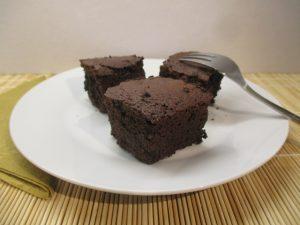Brownie tálalva 1