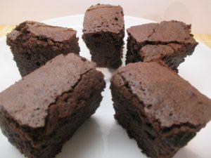 Brownie tálalva 2