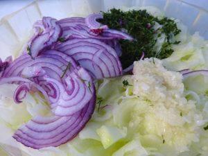 Saláta összetevők 2
