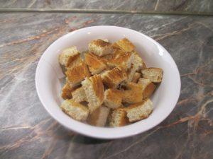 Fokhagymás pirított kenyérkocka