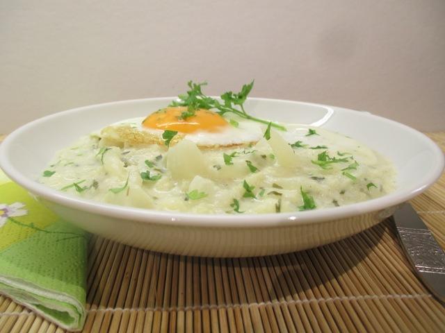 Karfiol főzelék tálalva 2