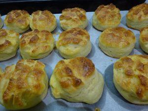 Krumplis pogácsa sütés után 2