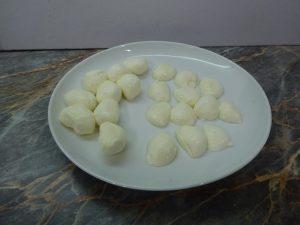 Mozzarella előkészítve