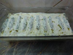 Zöld spárga csőben sütve - sütés előtt